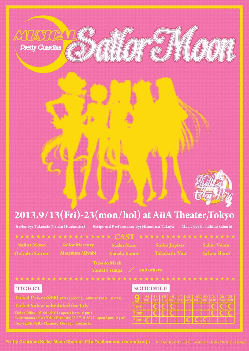 Breaking News: New Sailor Moon Musical to Begin in September 2013!