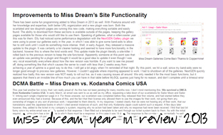 Miss Dream Year in Review 2013